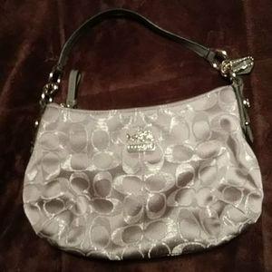 Silver Coach Bag